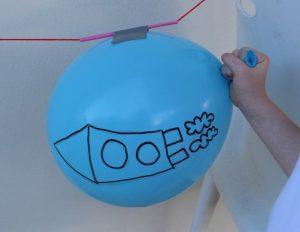 Ракета из воздушного шарика